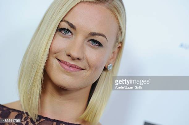Actress Yvonne Strahovski attends the 2014 G'Day USA Los Angeles Black Tie Gala at the JW Marriott Los Angeles at L.A. LIVE on January 11, 2014 in...