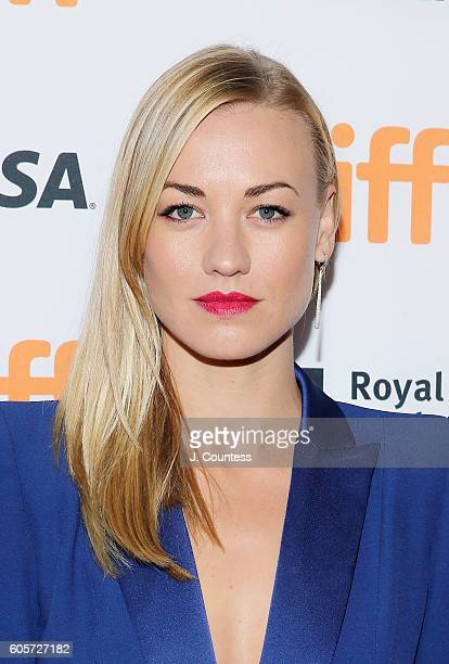 Actress Yvonne Strahovski attends the 2016 Toronto International Film Festival Premiere of 'All I See Is You' at the Princess of Wales Theatre on...