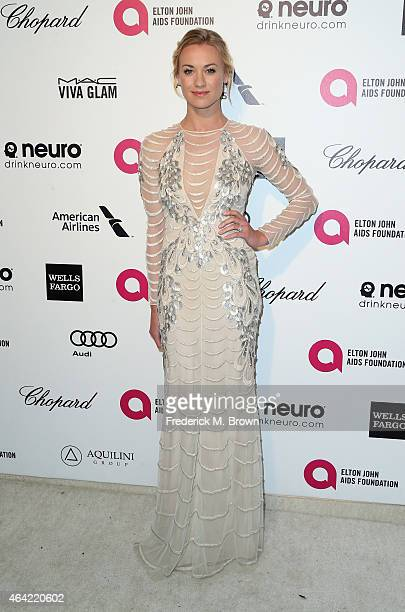 Actress Yvonne Strahovski attends the 23rd Annual Elton John AIDS Foundation's Oscar Viewing Party on February 22 2015 in West Hollywood California