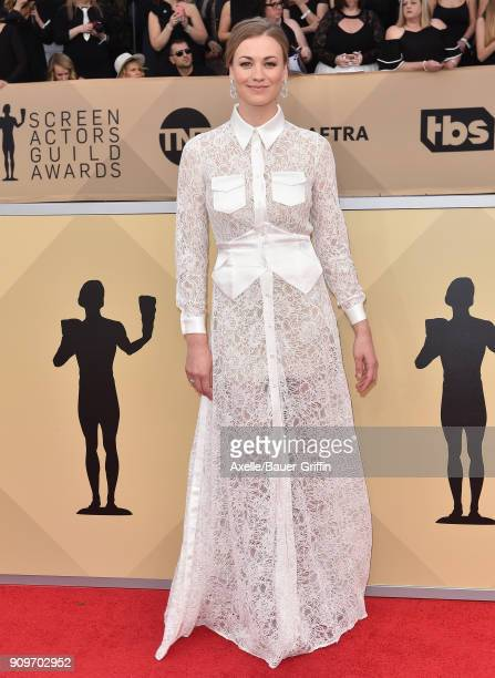 Actress Yvonne Strahovski attends the 24th Annual Screen Actors Guild Awards at The Shrine Auditorium on January 21 2018 in Los Angeles California