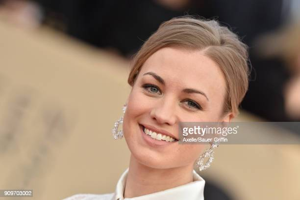 Actress Yvonne Strahovski attends the 24th Annual Screen Actors Guild Awards at The Shrine Auditorium on January 21, 2018 in Los Angeles, California.