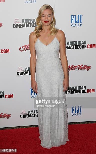 Actress Yvonne Strahovski attends the 29th American Cinematheque Award Honoring Reese Witherspoon Arrivals at the Hyatt Regency Century Plaza on...