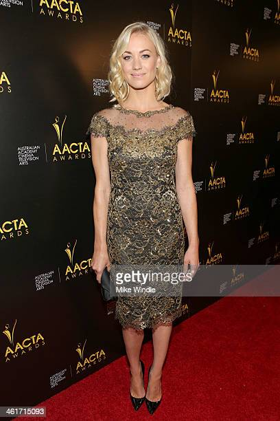 Actress Yvonne Strahovski attends the 3rd AACTA International Awards at Sunset Marquis Hotel & Villas on January 10, 2014 in West Hollywood,...