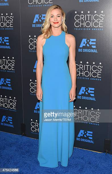 Actress Yvonne Strahovski attends the 5th Annual Critics' Choice Television Awards at The Beverly Hilton Hotel on May 31 2015 in Beverly Hills...