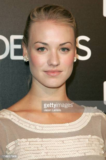 Actress Yvonne Strahovski attends the Details Mavericks of 2008 Cocktail Party on March 20, 2008 in Beverly Hills, California.