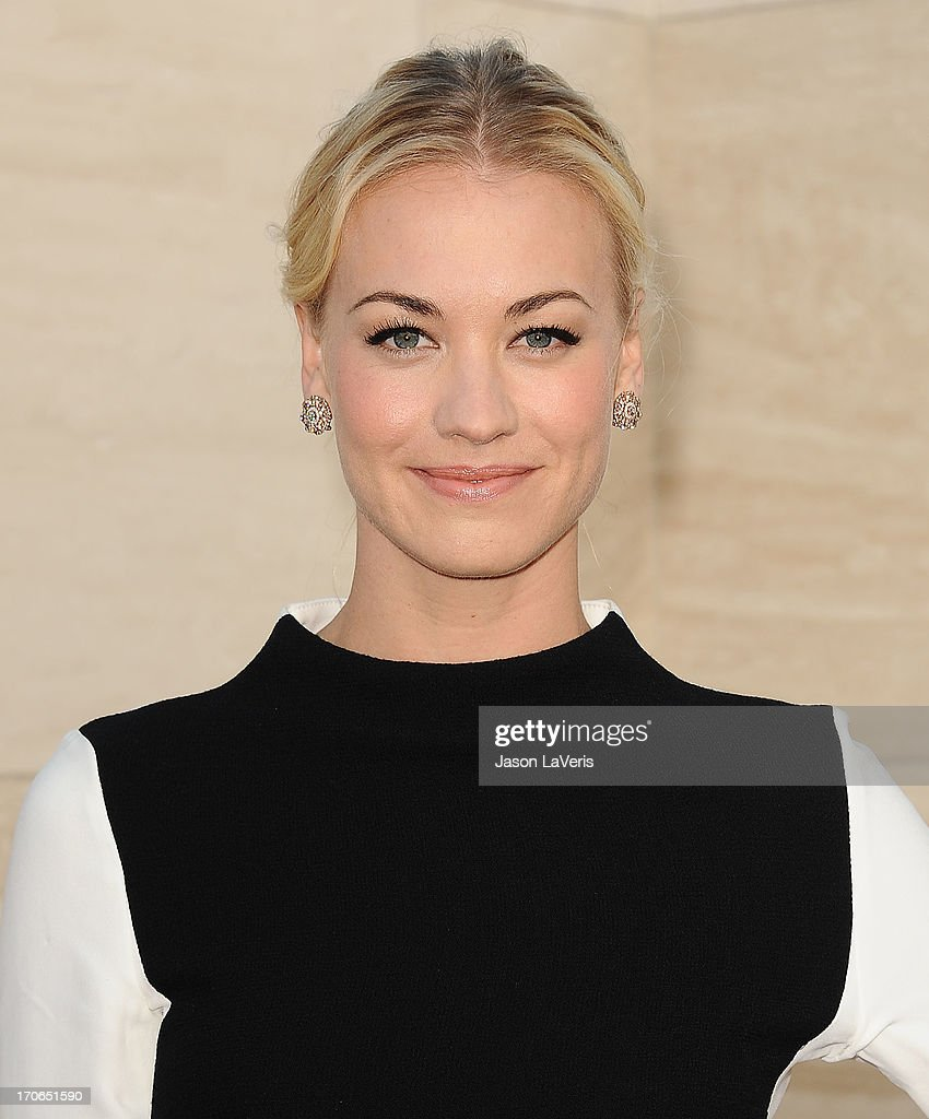 Actress Yvonne Strahovski attends the 'Dexter' series finale season premiere party at Milk Studios on June 15, 2013 in Hollywood, California.