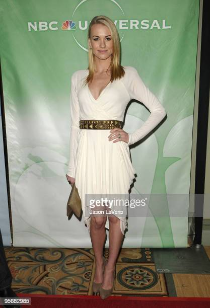 Actress Yvonne Strahovski attends the NBC Universal press tour cocktail party at The Langham Resort on January 10 2010 in Pasadena California
