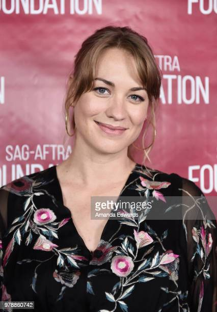 Actress Yvonne Strahovski attends the SAGAFTRA Foundation Conversations screening and QA of The Handmaid's Tale at the SAGAFTRA Foundation Screening...