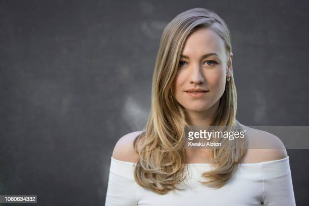 Actress Yvonne Strahovski is photographed for The Hollywood Reporter on April 17, 2018 in Los Angeles, California. PUBLISHED IMAGE.