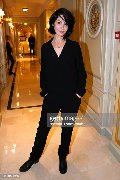 Actress Zabou Breitman attends the 'Cesar Revelations 2017' Dinner at Hotel Meurice on January 16 2017 in Paris France