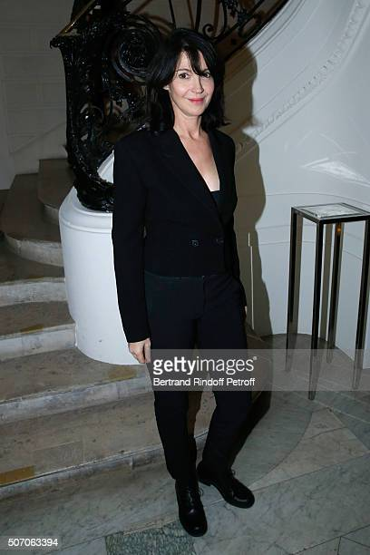 Actress Zabou Breitman attends the Jean Paul Gaultier Spring Summer 2016 show as part of Paris Fashion Week on January 27 2016 in Paris France
