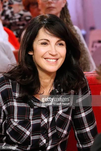 Actress Zabou Breitman presents the Movie 'Arrete ton cinema ' during the 'Vivement Dimanche' French TV Show at Pavillon Gabriel on December 15 2015...