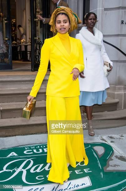 Actress Zazie Beetz is seen leaving Ralph Lauren Spring/Summer 2019 fashion show during New York Fashion Week at Ralph's Coffee at Ralph Lauren...