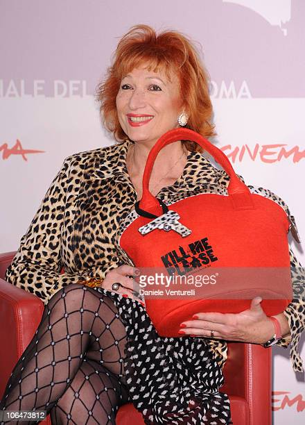 Actress Zazie de Paris attends the Kill Me Please Photocall during the 5th International Rome Film Festival at Auditorium Parco Della Musica on...