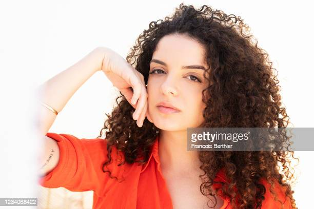 Actress Zbeida Belhajamor poses for a portrait during the 74th Cannes International Film Festival, on July 14, 2021 in Cannes, France.