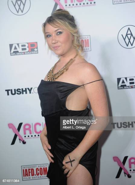Actress Zelda Morrison arrives for the 33rd Annual XRCO Awards Show held at OHM Nightclub on April 27 2017 in Hollywood California