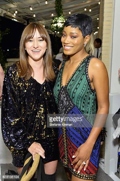 Actress Zelda Williams and actress/singer Keke Palmer attend Fergie First Lady of Los Angeles Amy Elaine Wakeland Barneys New York Host Dinner to...
