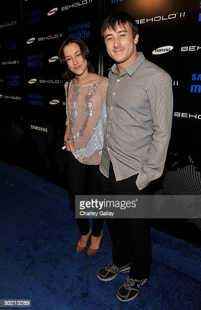 Actress Zelda Williams and Alex Frost arrive at the Samsung Behold II launch event at Boulevard3 on November 18 2009 in Los Angeles California