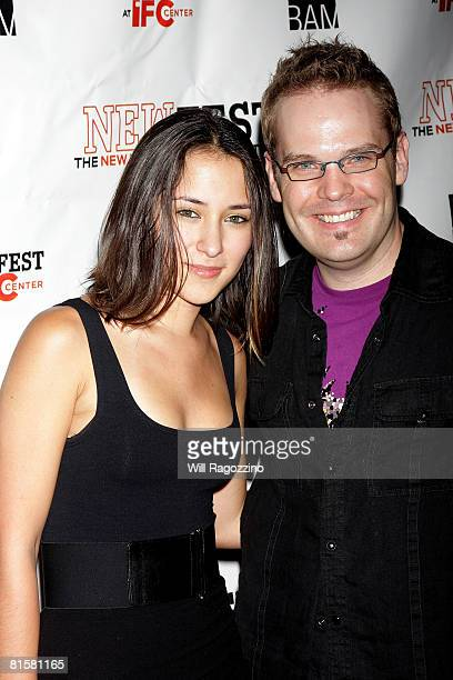 Actress Zelda Williams and director Tom Gustafson attend the 20th Annual Newfest Were The World Mine Premiere on June 15 2008 at AMC Loews 34th...