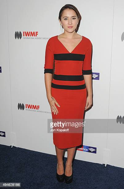 Actress Zelda Williams arrives at the International Women's Media Foundation Courage Awards at the Beverly Wilshire Four Seasons Hotel on October 27...