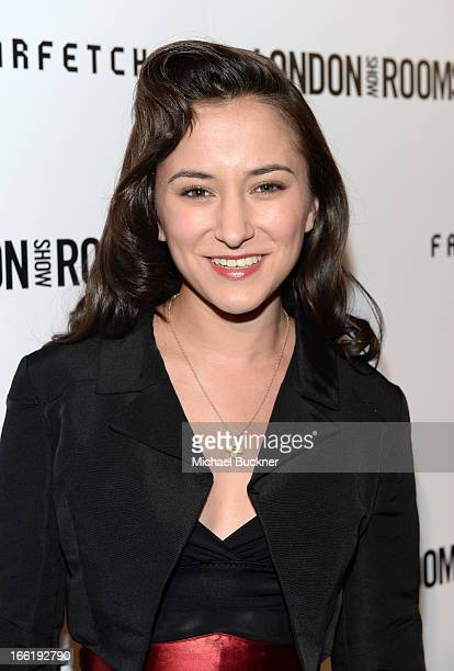 Actress Zelda Williams attends the British Fashion Council LONDON Show ROOMS LA AW13 Opening Party at Thompson Hotel on April 9 2013 in Beverly Hills...