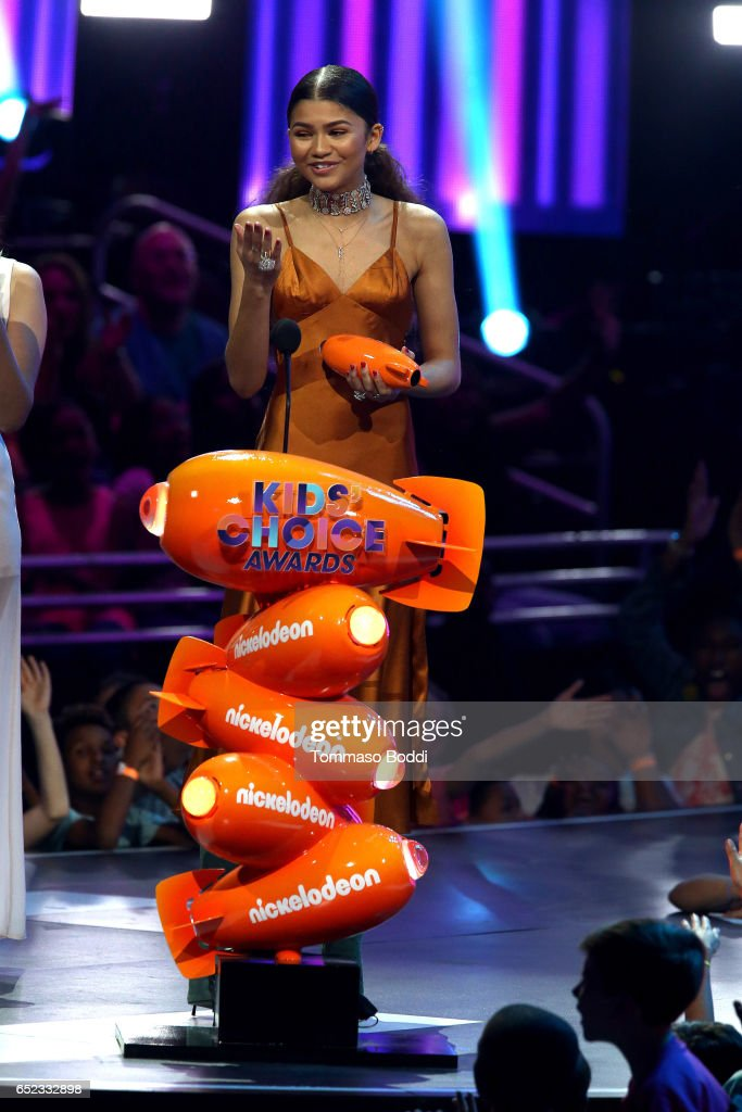 Actress Zendaya accepts Favorite TV Actress for 'K.C. Undercover' onstage at the Nickelodeon's 2017 Kids' Choice Awards at USC Galen Center on March 11, 2017 in Los Angeles, California.