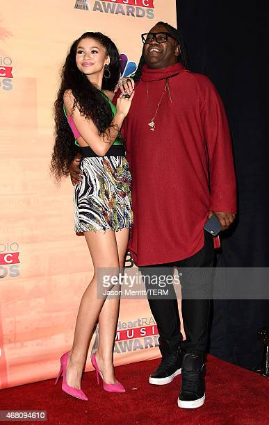 Actress Zendaya and Kazembe Ajamu Coleman pose in the press room during the 2015 iHeartRadio Music Awards which broadcasted live on NBC from The...