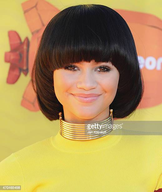 Actress Zendaya arrives at Nickelodeon's 28th Annual Kids' Choice Awards at The Forum on March 28 2015 in Inglewood California
