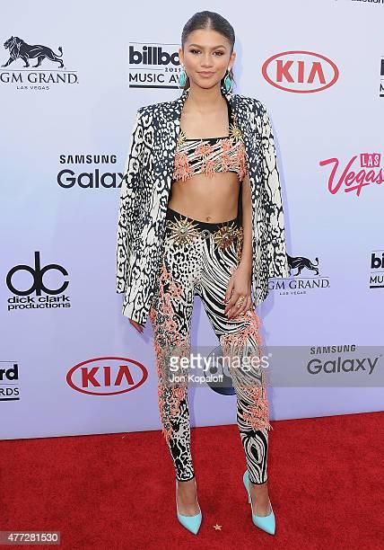 Actress Zendaya arrives at the 2015 Billboard Music Awards at MGM Garden Arena on May 17 2015 in Las Vegas Nevada