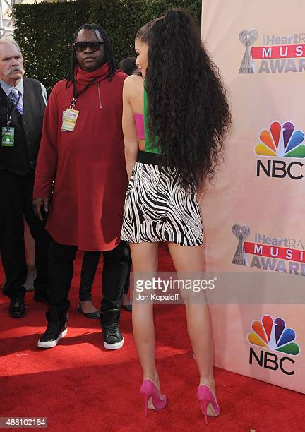 Actress Zendaya arrives at the 2015 iHeartRadio Music Awards at The Shrine Auditorium on March 29 2015 in Los Angeles California
