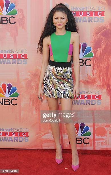Actress Zendaya arrives at the 2015 iHeartRadio Music Awards at The Shrine Auditorium on March 29, 2015 in Los Angeles, California.