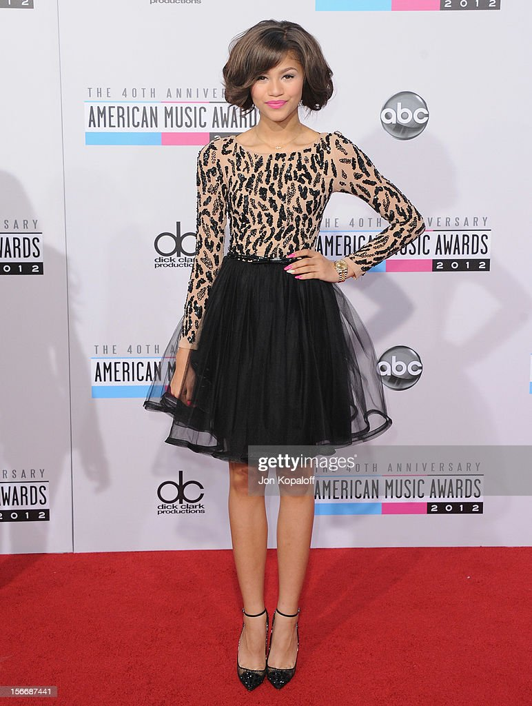 Actress Zendaya arrives at The 40th American Music Awards at Nokia Theatre L.A. Live on November 18, 2012 in Los Angeles, California.