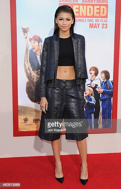 Actress Zendaya arrives at the Los Angeles Premiere 'Blended' at TCL Chinese Theatre on May 21 2014 in Hollywood California