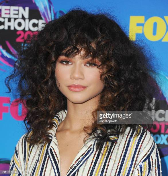 Actress Zendaya arrives at the Teen Choice Awards 2017 at Galen Center on August 13 2017 in Los Angeles California
