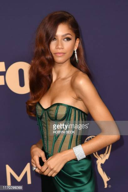 US actress Zendaya arrives for the 71st Emmy Awards at the Microsoft Theatre in Los Angeles on September 22 2019