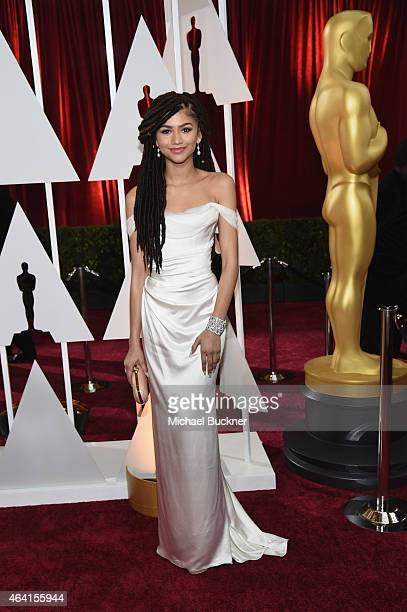 Actress Zendaya arrives in Chopard to the 87th Annual Academy Awards at Hollywood & Highland Center on February 22, 2015 in Hollywood, California.