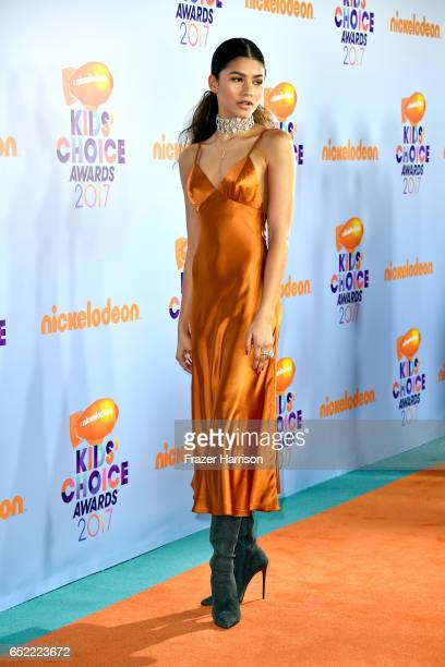 Actress Zendaya at Nickelodeon's 2017 Kids' Choice Awards at USC Galen Center on March 11 2017 in Los Angeles California