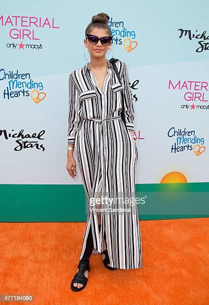 Actress Zendaya attends Children Mending Heart's 7th Annual Empathy Rocks fundraiser on June 14 2015 in Malibu California