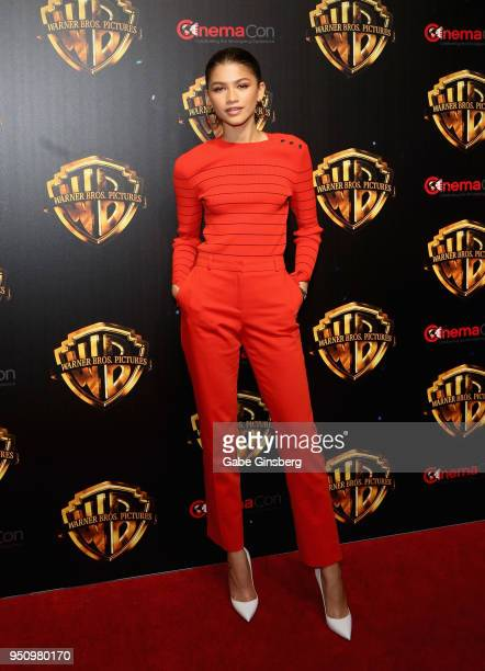 Actress Zendaya attends CinemaCon 2018 Warner Bros Pictures Invites You to The Big Picture an Exclusive Presentation of our Upcoming Slate at The...