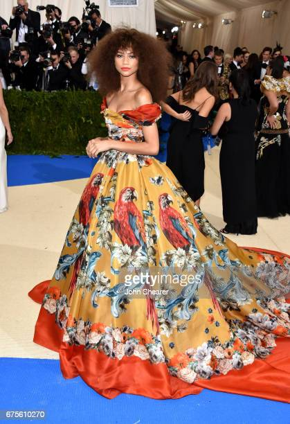 Actress Zendaya attends 'Rei Kawakubo/Comme des Garcons Art Of The InBetween' Costume Institute Gala at Metropolitan Museum of Art on May 1 2017 in...