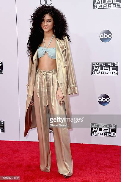 Actress Zendaya attends the 2014 American Music Awards at Nokia Theatre LA Live on November 23 2014 in Los Angeles California