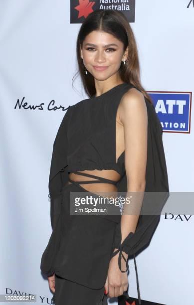 Actress Zendaya attends the 2020 AAA Arts Awards at Skylight Modern on January 30, 2020 in New York City.