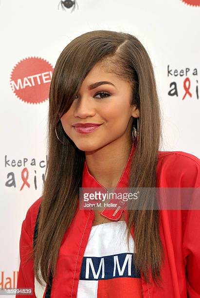 Actress Zendaya attends the Keep A Child Alive's 20th Annual Dream Haloween at the Barker Hangar on October 26 2013 in Santa Monica California