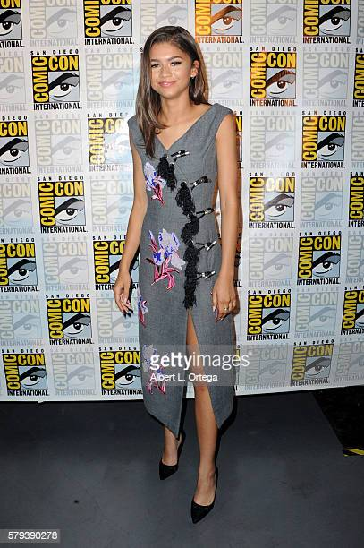 Actress Zendaya attends the Marvel Studios presentation during Comic-Con International 2016 at San Diego Convention Center on July 23, 2016 in San...