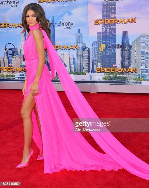 Actress Zendaya attends the premiere of Columbia Pictures' 'SpiderMan Homecoming' at TCL Chinese Theatre on June 28 2017 in Hollywood California