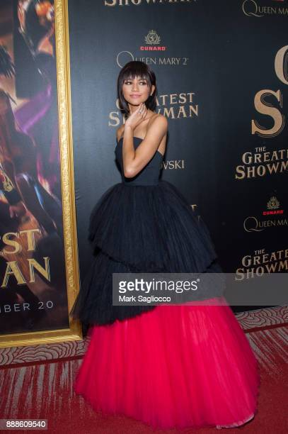 Actress Zendaya attends the 'The Greatest Showman' World Premiere aboard the Queen Mary 2 at the Brooklyn Cruise Terminal on December 8 2017 in the...