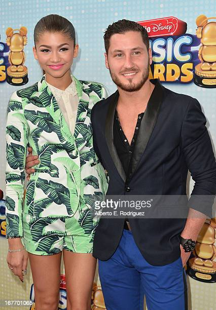 Actress Zendaya Coleman and professional dancer Val Chmerkovskiy arrive to the 2013 Radio Disney Music Awards at Nokia Theatre L.A. Live on April 27,...