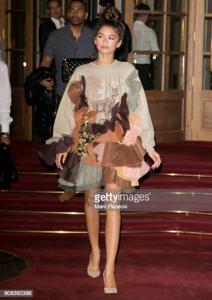 Actress Zendaya Coleman is seen on July 4 2017 in Paris France
