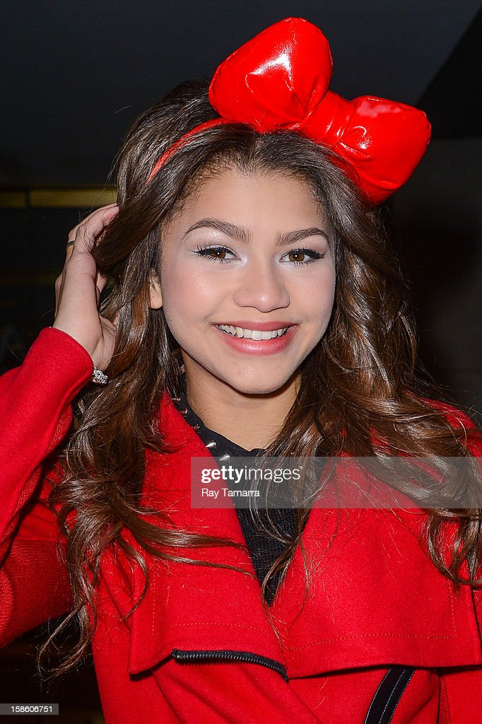 Actress Zendaya Coleman leaves the 'Today Show' taping at the NBC Rockefeller Center Studios on December 20, 2012 in New York City.