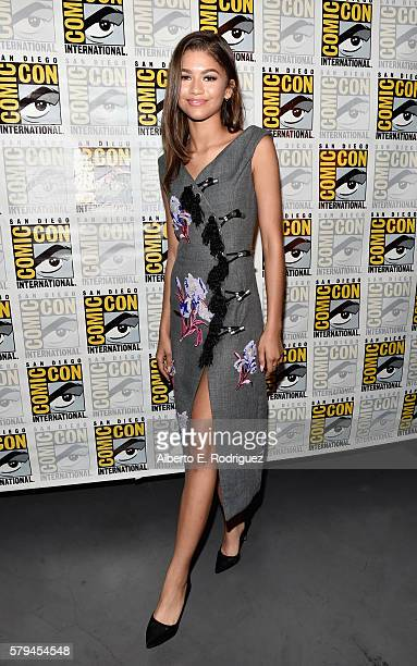"Actress Zendaya from Marvel Studios' ""Spider-Man: Homecoming"" attends the San Diego Comic-Con International 2016 Marvel Panel in Hall H on July 23,..."
